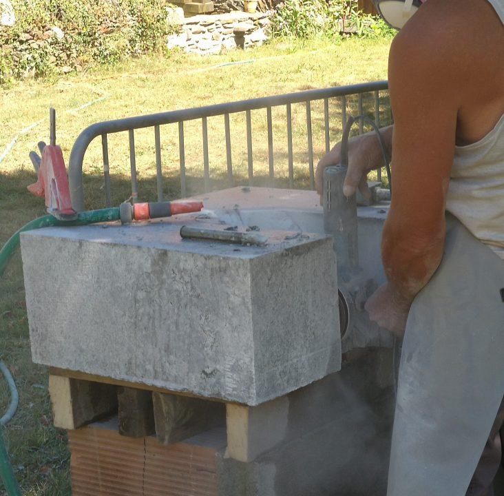 Sculpture de granit